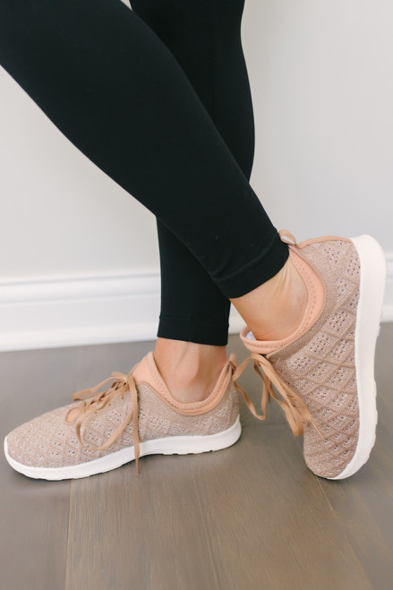 Not Rated Dessa Sneakers - Rose Gold