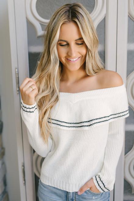 BB Dakota Rush Week Sweater - Ivory/Black