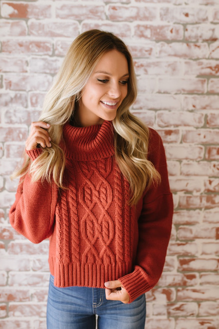 Jack by BB Dakota Say Anything Sweater - Burnt Orange