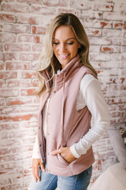 Fall Traditions Quilted Vest - Mauve