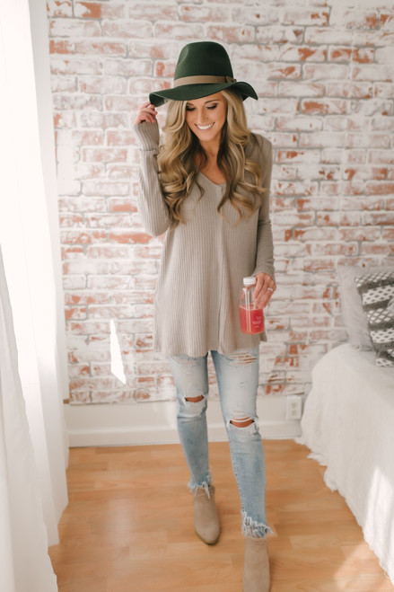 Only Exception Thermal Seam Detail Top - Mocha