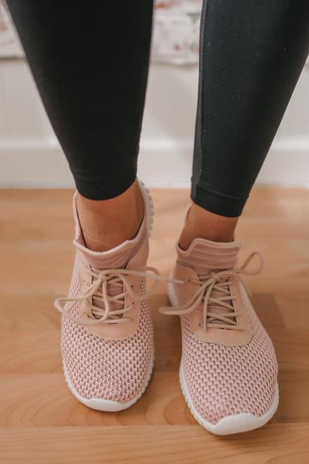 Dirty Laundry Harlen Knit Sneakers - Blush  - FINAL SALE