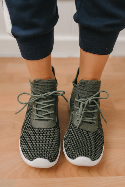 Dirty Laundry Harlen Knit Sneakers - Olive