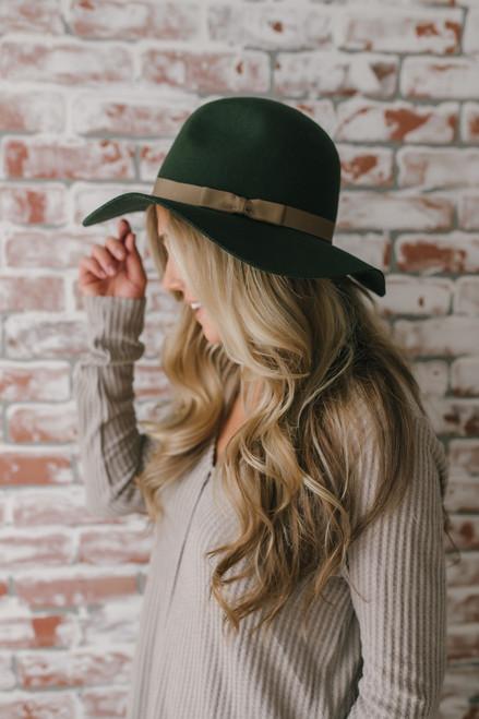 Brixton Dalila Floppy Hat - Olive