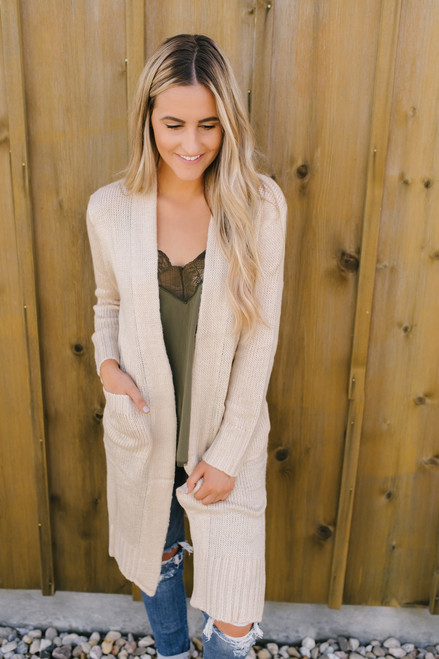 Into the Wilderness Pocket Cardigan - Beige