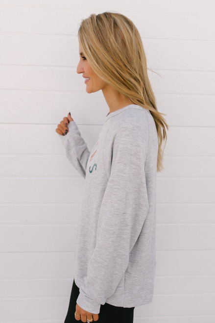 Mimosas Graphic Sweatshirt - Heather Grey