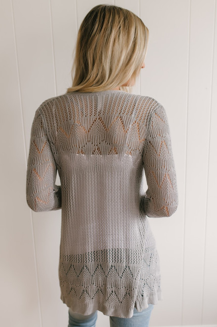 Illusion of the Heart Asymmetrical Cardigan - Grey - FINAL SALE