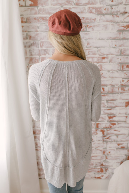 Free People Catalina Thermal Top - Grey