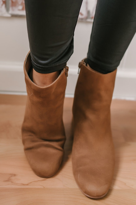 Chinese Laundry Daria Suede Booties - Tan