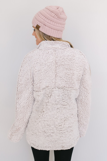 Thread & Supply: Milky Way Colorblock Pullover -Rose/Ivory