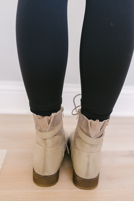 Dirty Laundry Tilley Combat Boots - Taupe