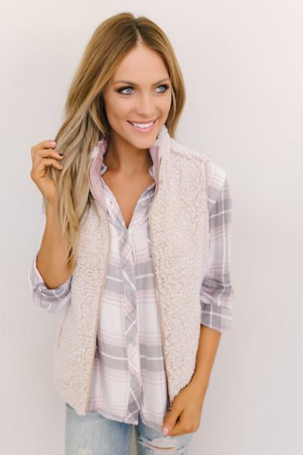 Thread & Supply: Park City Reversible Vest - Pink