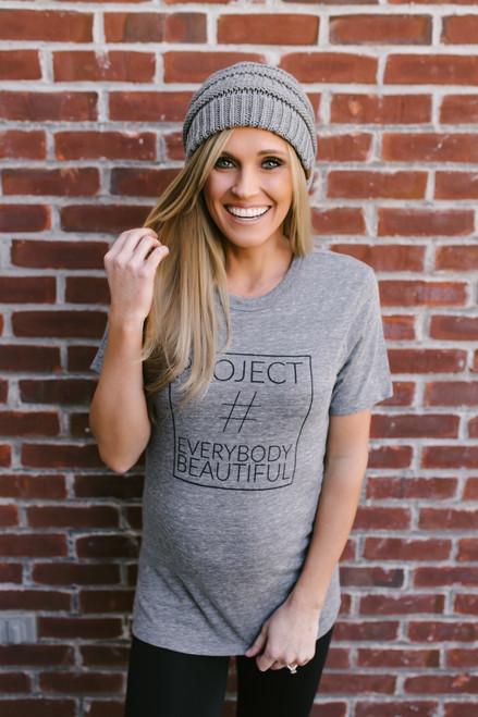 Project Everybody Beautiful Tee - Heather Grey