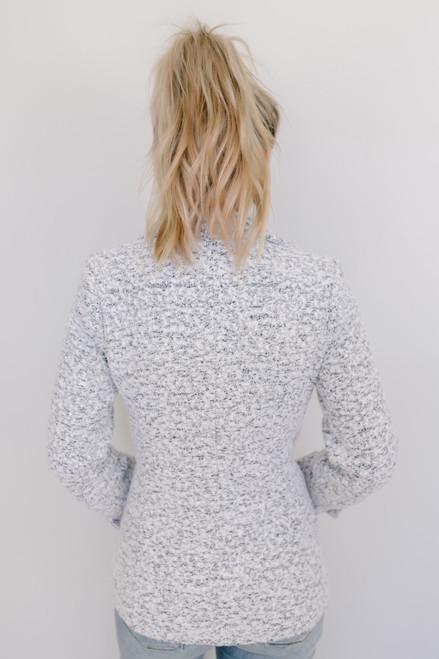 Thread & Supply: Two Tone Oxford Coat - White/Black