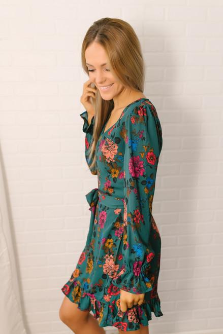 Jack by BB Dakota Petal Down Floral Dress - Green Multi