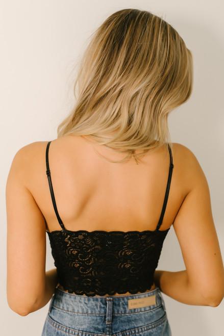 Scalloped Lace Brami - Black
