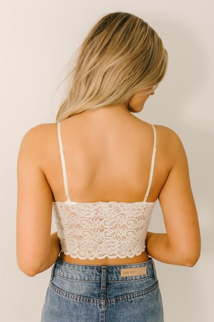 Scalloped Lace Brami - Ivory