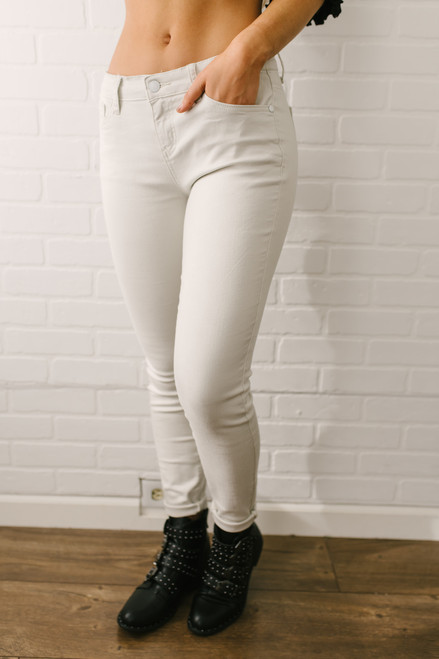 Downtown Seattle Skinny Jeans - Sand