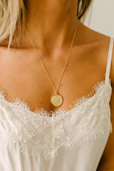 Buddha Wheel Necklace - Gold