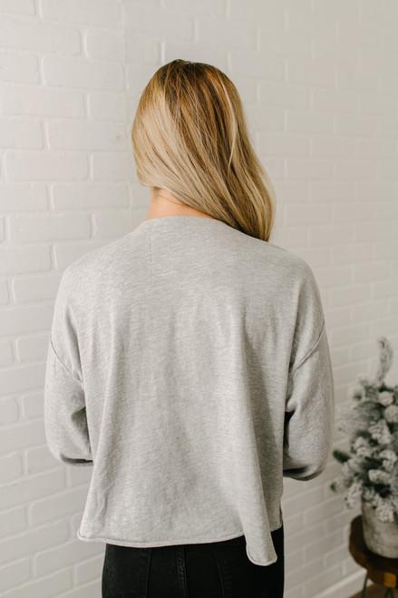 Free People Denver Long Sleeve Top - Grey