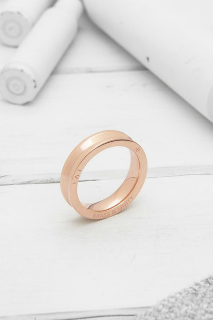 Brass & Unity Ring - Rose Gold
