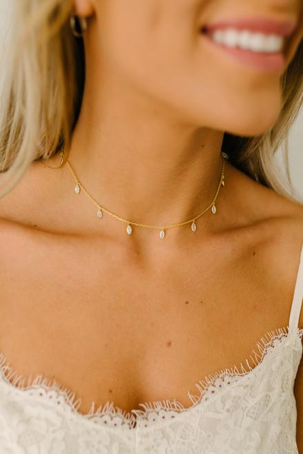 Droplet Choker - Gold