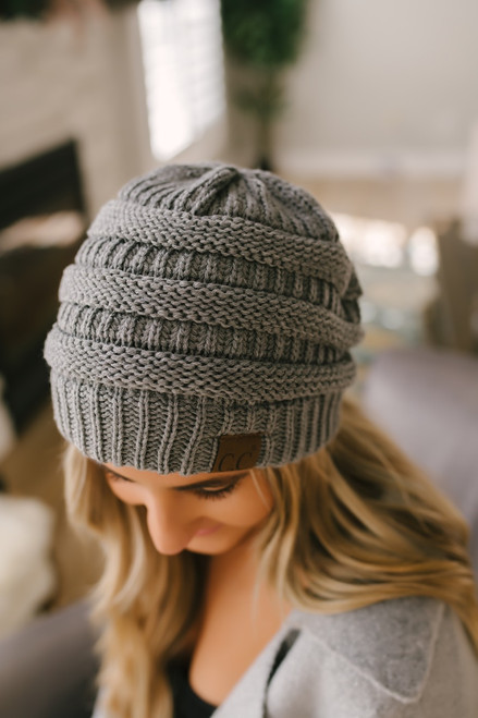 Knit Beanie - Dark Grey