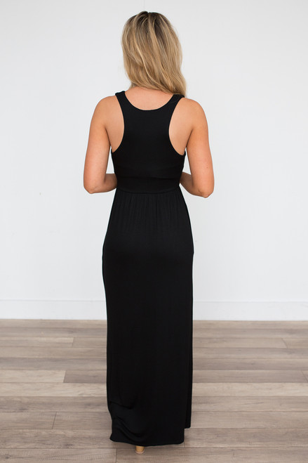 Racerback Maxi Dress - Black