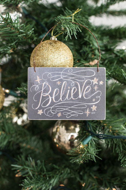 Believe Ornament - FINAL SALE