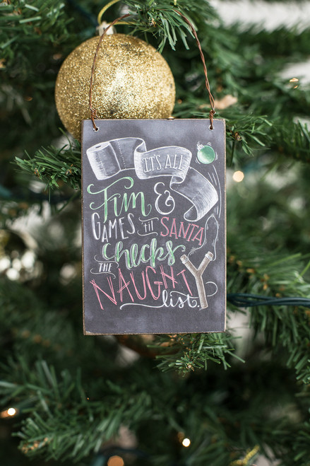 Naughty List Ornament - FINAL SALE
