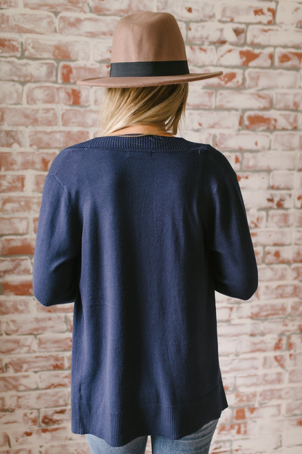Down By The Bay Knit Cardigan - Navy