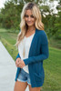Down By The Bay Knit Cardigan - Dark Teal - FINAL SALE