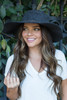 Metallic Band Floppy Hat - Charcoal - FINAL SALE