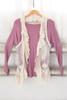 Crochet & Lace Ruffle Vest - Natural - FINAL SALE