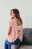 Call Me Knot Back Striped Top - Red/Ivory - FINAL SALE