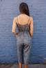 Arcadia Beach Drawstring Jumpsuit - Heather Black - FINAL SALE