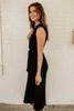 Old Hollywood Glamour Midi Dress - Black
