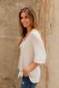 Savannah May Button Down Knot Top - Heather Grey