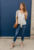 Savannah May Button Down Knot Top - Heather Grey - FINAL SALE