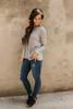 Coastal Dreams Layered Peplum Sweater - Grey