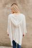 Lightweight Hooded Thermal Cardigan - Heather Grey