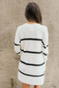 Ivy Cottage Striped Cardigan - White/Black - FINAL SALE