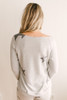 Lucky Stars Soft Brushed Pullover - Heather Grey/Charcoal