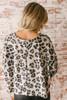Sweet Spot Balloon Sleeve Leopard Top - Grey Multi