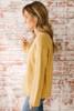Goldie V-Neck Seam Detail Sweater - Mustard