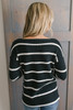 Ivy Cottage Striped Sweater - Black/White