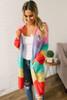 Colors of the Wind Colorblock Pocket Cardigan - Multi