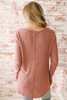 Only Exception Thermal Seam Detail Top - Mauve