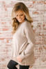 At the Lodge Soft Brushed Pocket Tunic - Taupe