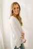 V-Neck Seam Detail Sweater - White